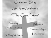 "Sing Sir John Stainer's ""The Crucifixion"""