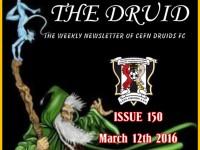 Cefn Druids FC Newsletter 150
