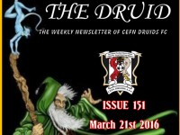 Cefn Druids FC Newsletter 151