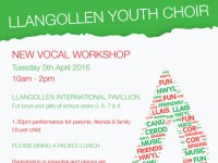 Llangollen Youth Choir Vocal Workshop