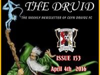 Cefn Druids FC Newsletter 153