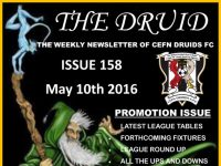 Cefn Druids FC Newsletter 158