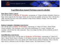 Christmas Concerts -Update