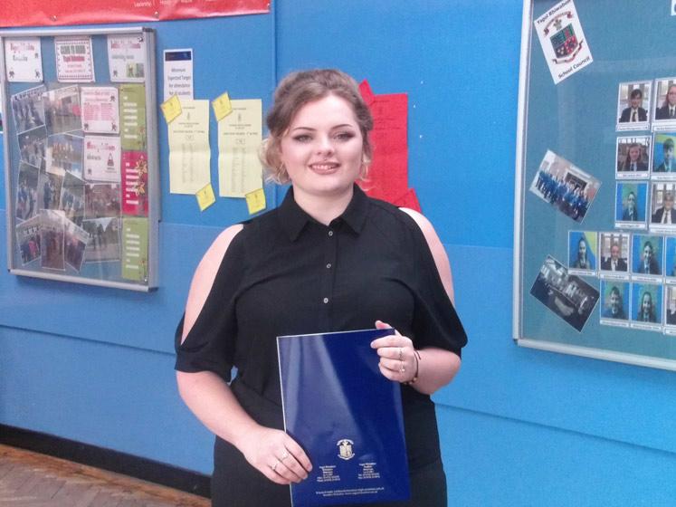 Yr 13 student Aymee Brooke Jones