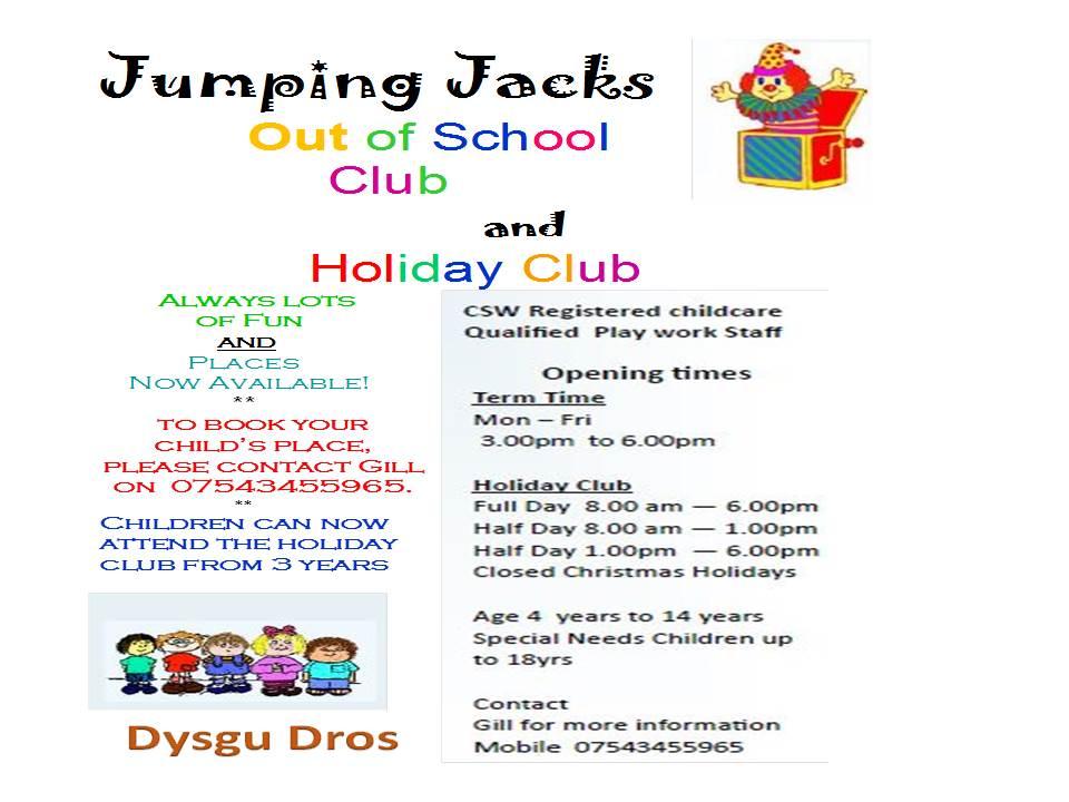 Jumping Jack S Out Of School Club Ysgol Rhiwabon